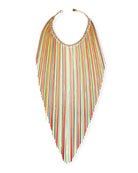 Medusa Long Neon Fringe Necklace