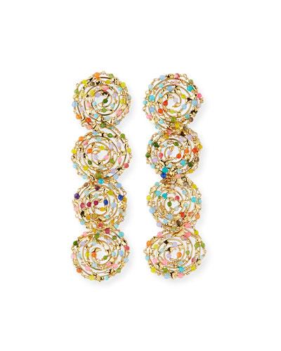 Pizzo Rainbow Swirl Drop Earrings