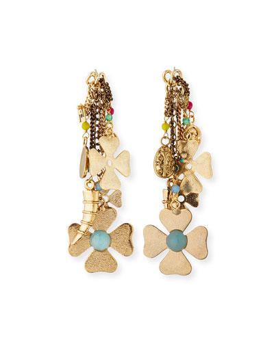 Malocchio Mixed Charm Dangle Earrings