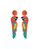 Parrot Seed Bead Earrings