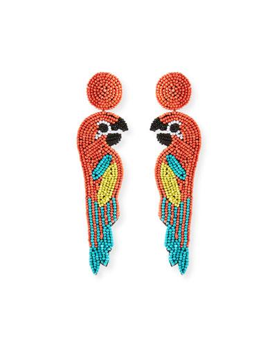 Parrot Seed Bead Earrings
