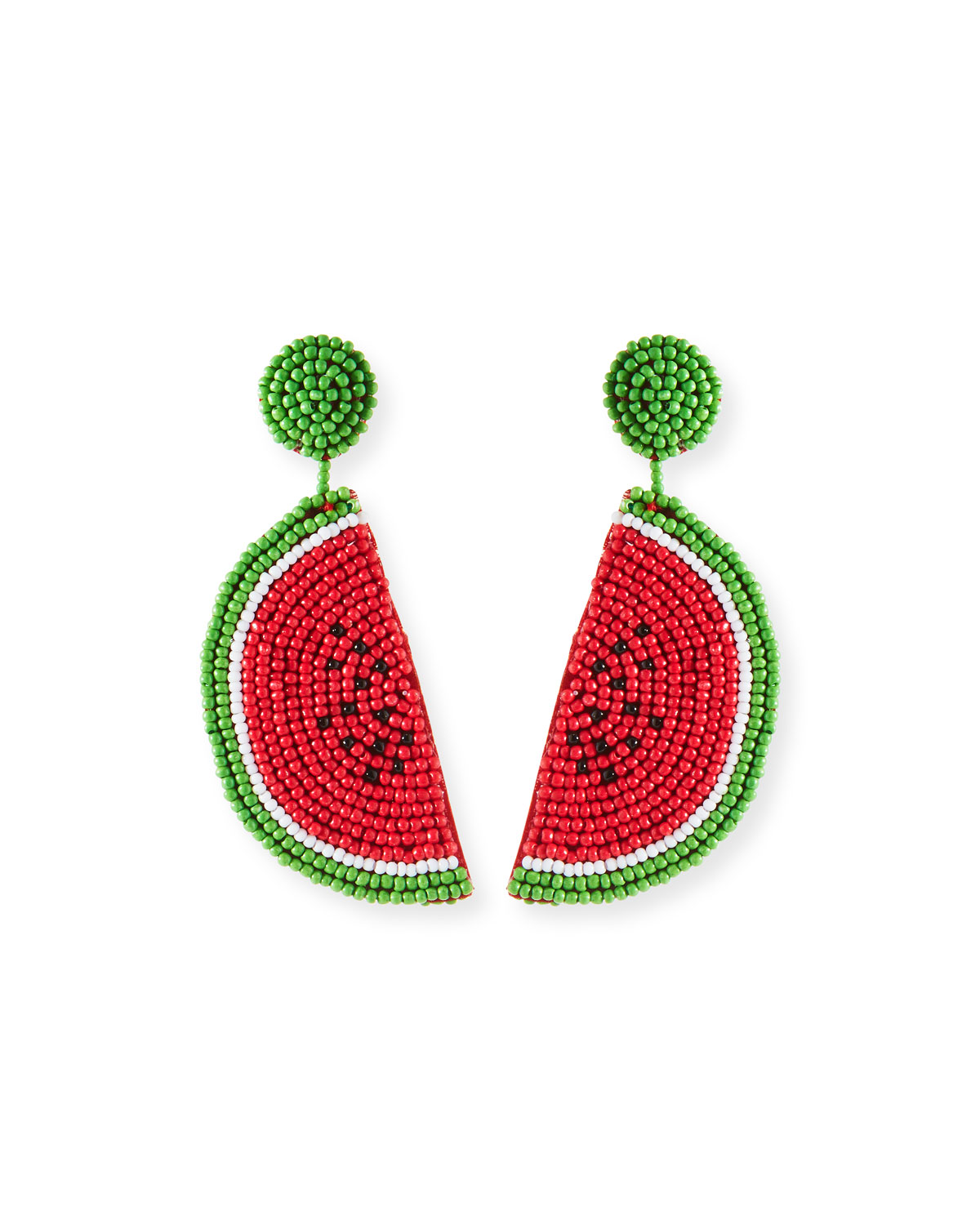 Watermelon Seed Bead Earrings