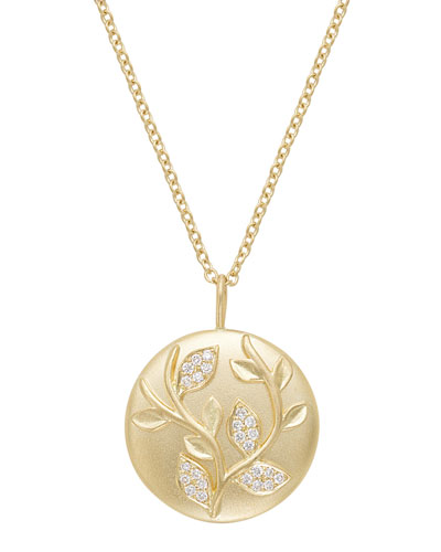 18k Diamond Ivy Vine Pendant Necklace