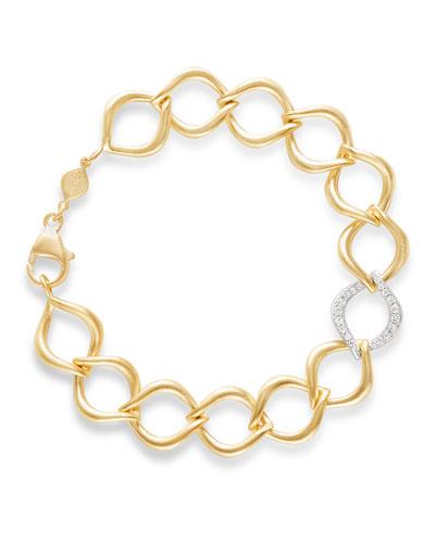 18k Aladdin Chain-Link Bracelet w/ Diamond Link