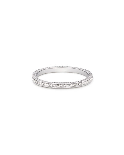 18k Thin Diamond Pave Band Ring