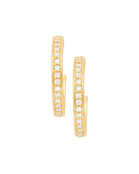 Jamie Wolf 18k Petite Pave Hoop Earrings