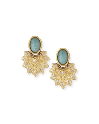 Old World 18k Starburst Aquaprase™ Stud Earrings