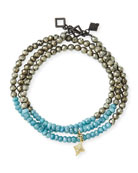 Armenta Old World 18k Beaded Wrap Bracelet