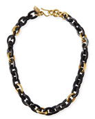 Meli Short Collar Necklace in Dark Horn