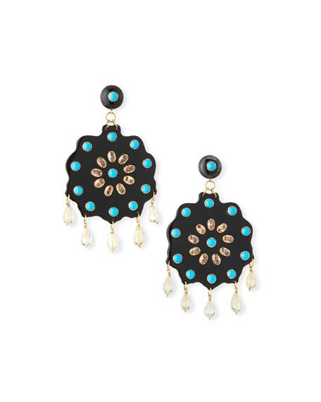 Ashley Pittman Shauku Flower Drop Earrings