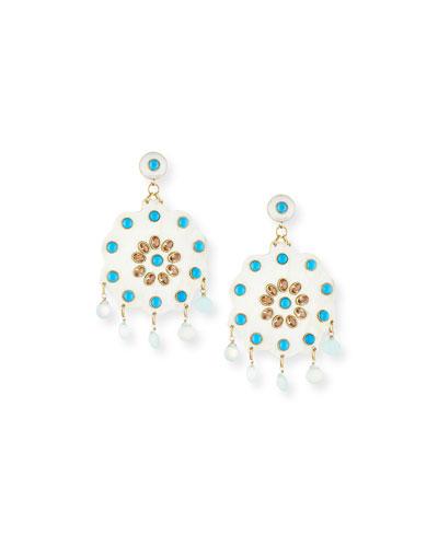 Shauku Light Horn Flower Earrings