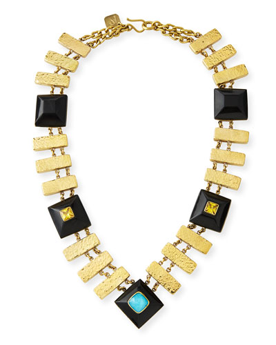 Pevu Necklace w/ Turquoise & Citrine