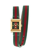 G-Frame Square Double-Wrap Web Watch