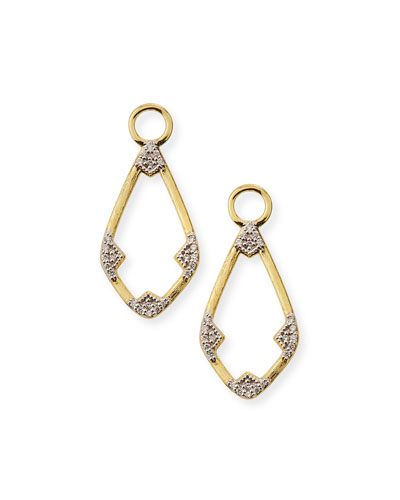 18k Lisse Open Diamond Kite Earring Charms
