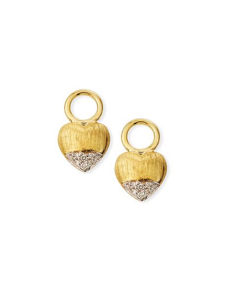 Jude Frances Lisse 18k Puffy Heart Diamond Earring Charms