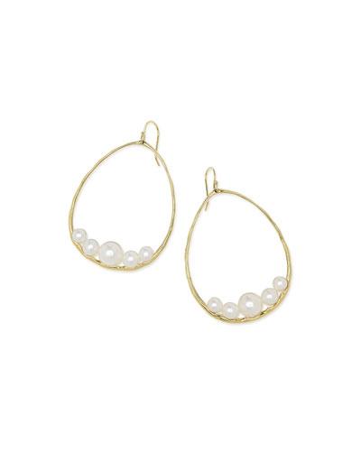 18k Nova Pear Drop Earrings in Mother-of-Pearl