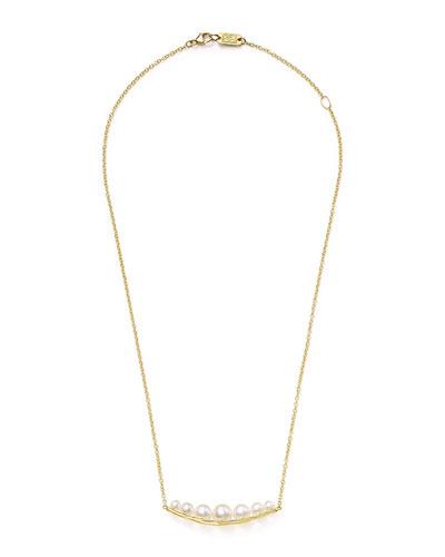 18k Nova Smile-Bar Pendant Necklace