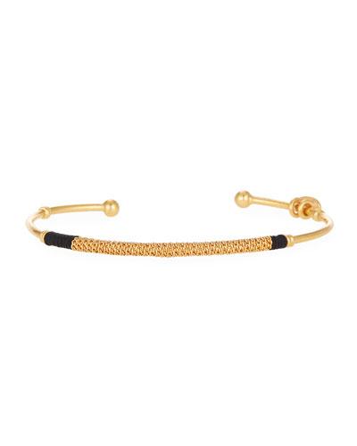 Zanzibar Bangle Bracelet, Black