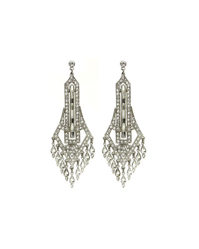 Deco Chandelier Crystal Drop Earrings