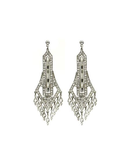 Ben-Amun Deco Chandelier Crystal Drop Earrings