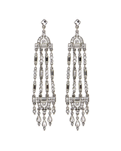 Multi-Strand Crystal Drop Earrings