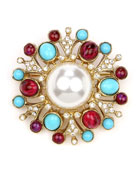 Cluster Brooch w/ Pearly Center