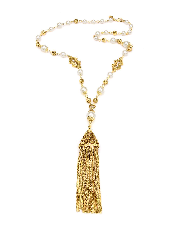 Chain Tassel Pendant Necklace