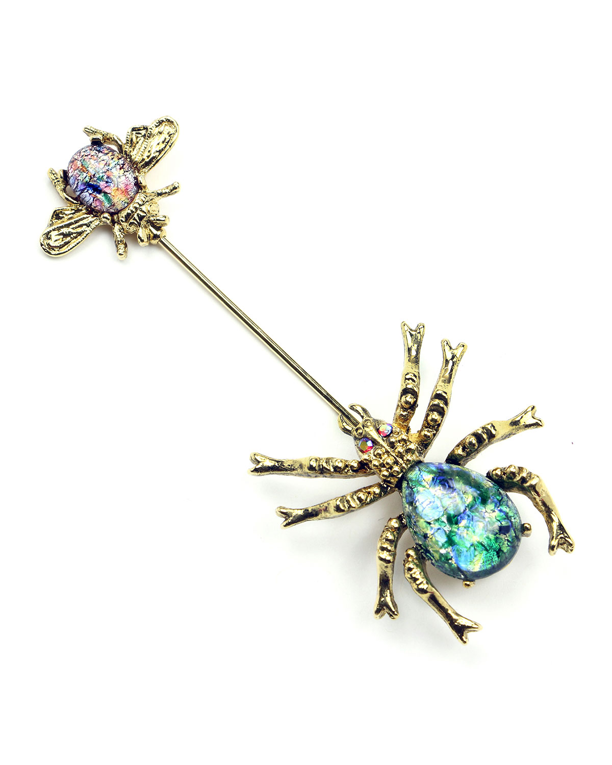 Crystal Spider & Insect Pin