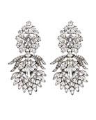 Crystal Peacock Clip-On Earrings