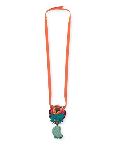 Sarika Ribbon Pendant Necklace