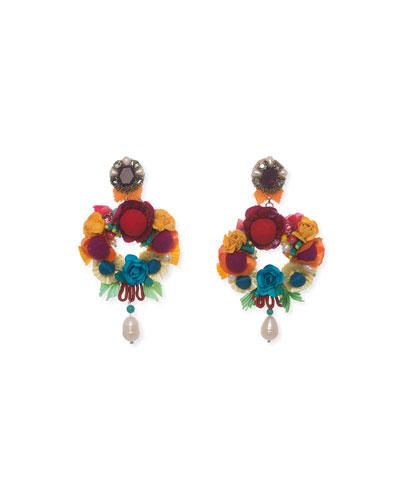 Lovebird Floral Drop Earrings