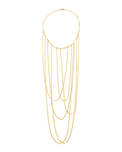 14k Big Stiletto Choker Chain Necklace