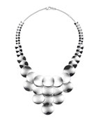 925 Classico Wavy Disc Statement Necklace