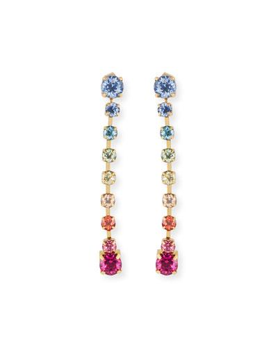 Rainbow Linear Drop Earrings