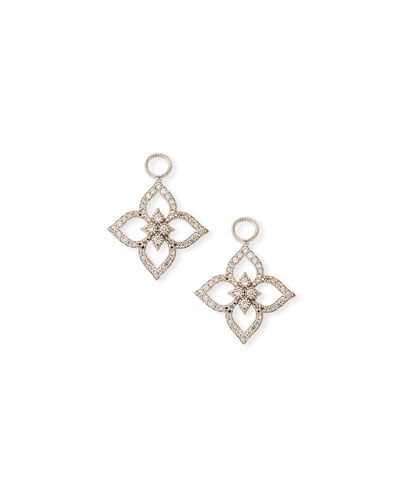 18k Moroccan Pavé Flower Earring Charms
