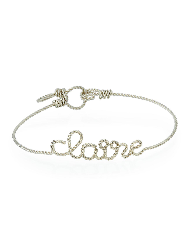 Atelier Paulin Personalized 10-Letter Twist Wire Bracelet, Silver