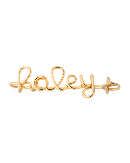 Atelier Paulin Personalized 5-Letter Wire Brooch, Yellow Gold Fill