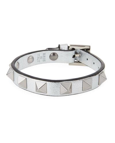 Rockstud Small Leather Bracelet