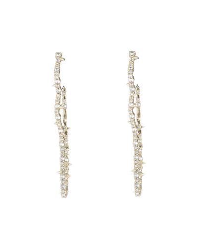 Crystal Encrusted Tulip Hoop Earrings