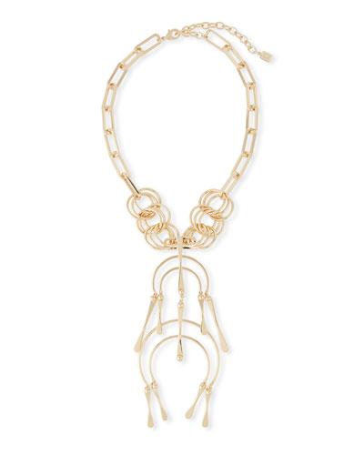 Sequin Rainbow Mosaic Horseshoe Necklace sl8ZLDt