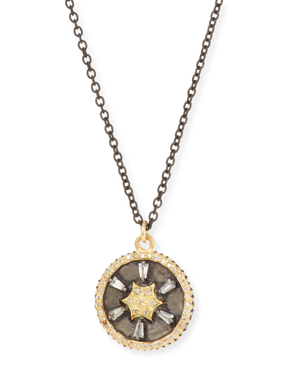 Armenta Old World 18k Gold/Silver Star Pendant Necklace w/ Diamonds