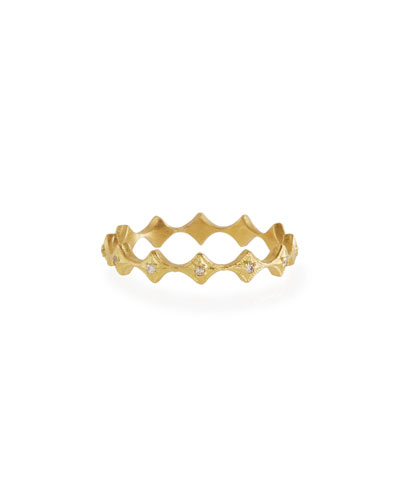 Old World 18k Diamond Crivelli Stack Ring