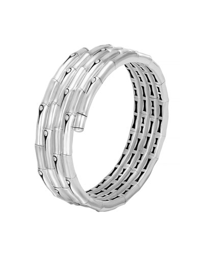Bamboo Sterling Silver Four-Coil Bracelet