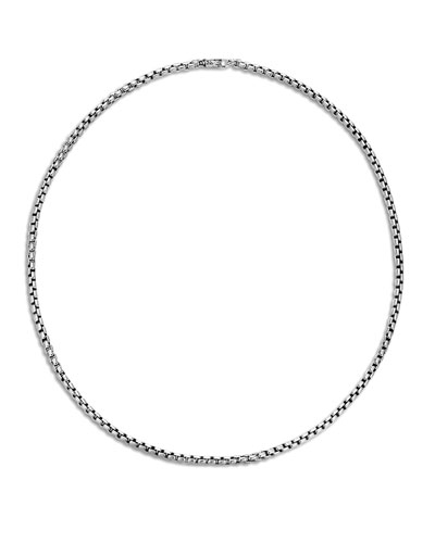 Classic Chain Box Chain Necklace with Figurative Naga Lobster Clasp