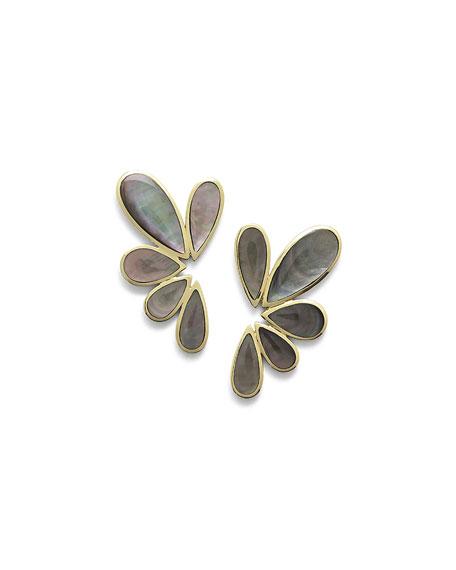 Ippolita 18K Polished Rock Candy Multi-Pear Earrings in Black Shell