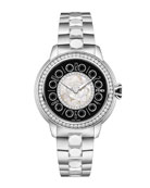 33mm IShine Stainless Steel Bracelet Watch w/ Diamond Bezel