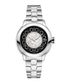 33mm IShine Stainless Steel Bracelet Watch w/ Diamonds