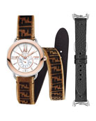 36mm Selleria 18k Watch Head w/ Zucca Strap