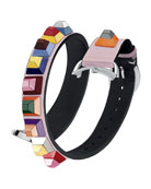 17mm Selleria Strap You Leather Watch Strap with Multicolor Studs