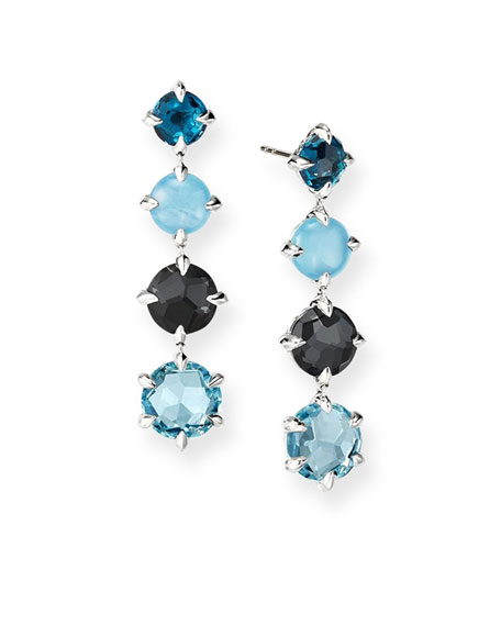 David Yurman Chatelaine Drop Earrings w/ Topaz